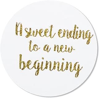 a sweet ending to a new beginning sticker
