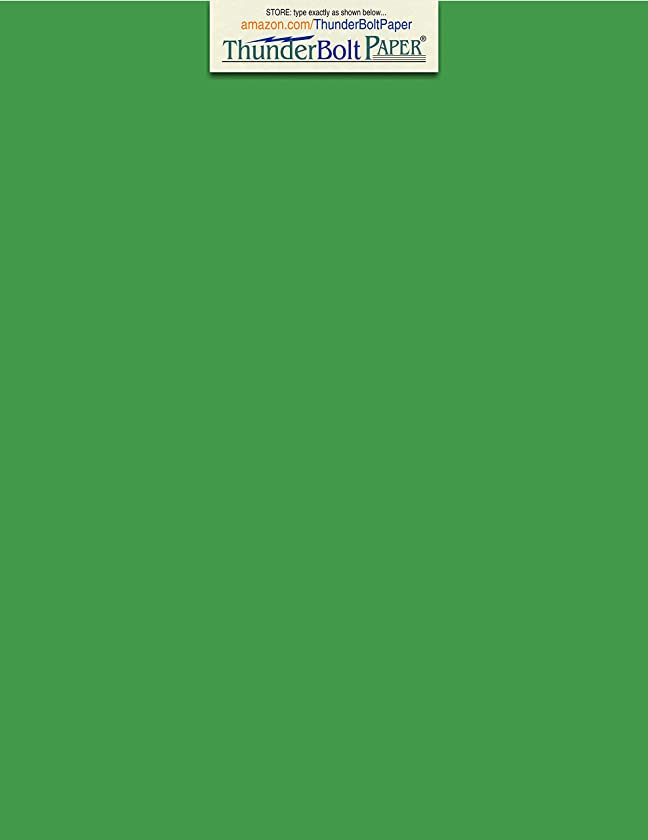 100 Bright Green 65lb Cover|Card Paper - 8.5