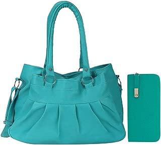Bellina® Premium synthetic Hobo Aqua Green Shoulder handbag and clutch combo for women