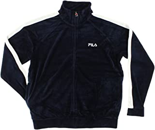 Fila Mens Velour Sweatsuit Jacket Navy Blue