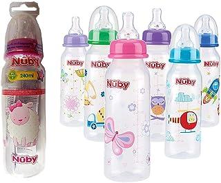 Nuby ID1486 Botella Impresa con Cuello Estándar, 240 ml,