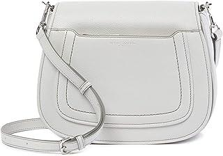 Empire City Mini Messenger Leather Crossbody Bag Light Grey