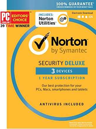 Norton Security Deluxe + Norton Utilities Bundle - 3 Devices [Key Card] - 2019 Ready