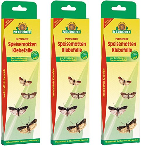 3 x 3 (9 Stk) Neudorff Permanent SpeisemottenKlebefalle, insektizidfrei