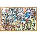 Puzzle Jigsaw divertido for adultos y niños, Happy People 500 - 4000 Piezas de rompecabezas de madera rompecabezas, juguetes Interesante regalo de los niños de vacaciones, arte DIY del rompecabezas