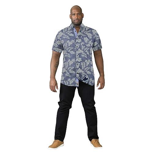a4b681c5b Mens Duke D555 Nestor King Size Big Tall Pure Cotton Hawaiian Casual Shirt