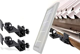 Wasserstein Gutter Mount Compatible with Ring, Arlo, Blink, Reolink Cams & Compatible Solar Panels (2 Pack, Black)