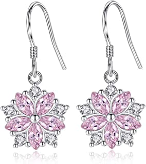 Beydodo CZ Earrings Dangle Earrings for Wedding Bridesmaids Marquise and Round Cut Cubic Zirconia