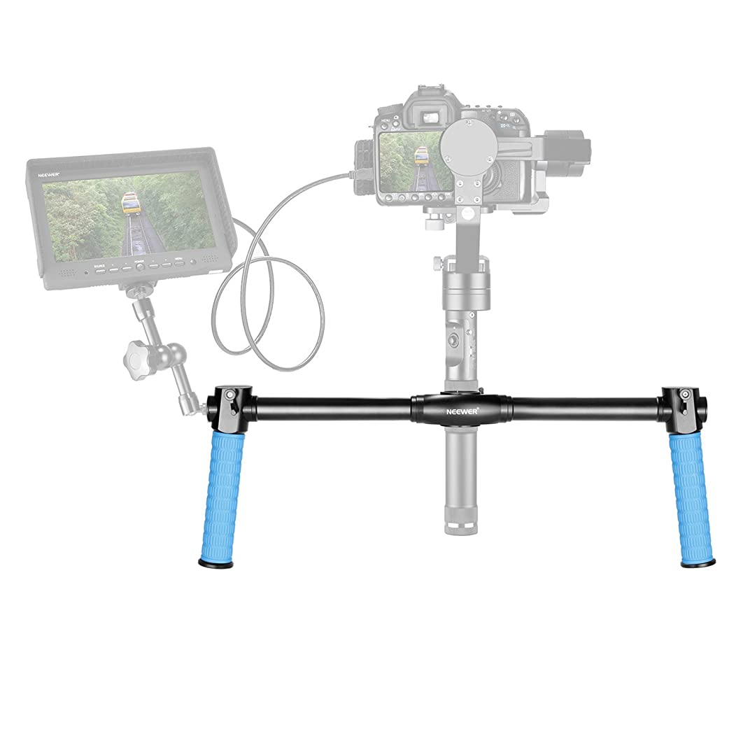 Neewer Aluminum Alloy Dual Handheld Grip for Neewer Crane/Crane M/Crane V2,Zhiyun Crane/Crane M/Crane V2,3-Axis Handheld Stabilizer,1.5 feet/46.5 Centimeters Non-Slip Durable Camera Gimbal(Blue)