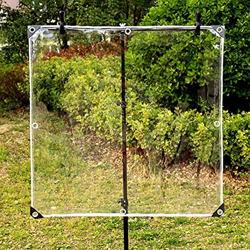 U/D Lonas Impermeables Exterior, Lona De Plástico De PVC con Aislamiento Antienvejecimiento Resistente Al Agua A Prueba De Lluvia, Lona De Vidrio Suave con Ojales,Clear,1.8x3m