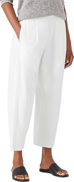 Cropped Lantern Pants in Organic Cotton Stretch Jersey