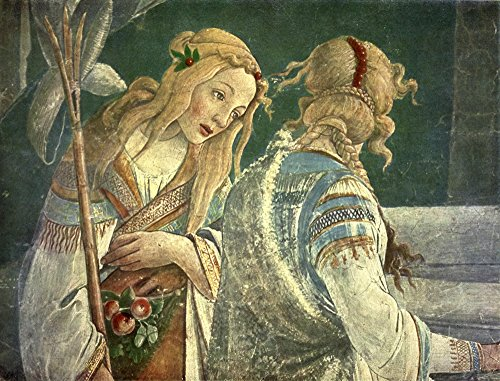Posterazzi Old Masters 1900 Moses and The Jethro Daughters (Detail) Poster Print by Sandro Botticelli, (24 x 36), Varies