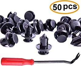 CIKIShield 10mm Honda Acura Nylon Bumper Fender Flare Fastener Rivet Clips-50 pcs and One Plastic Fastener Remover