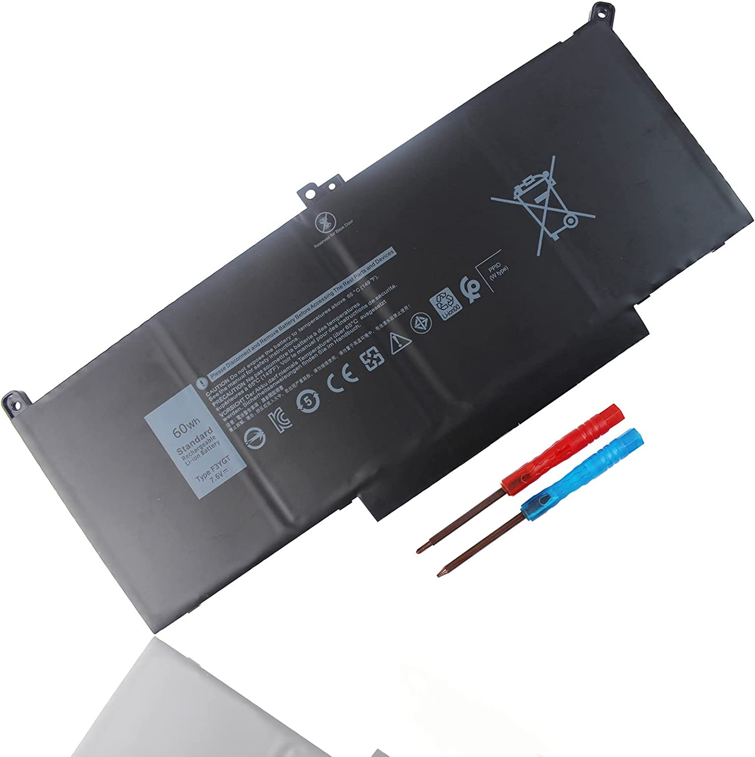 Yongerwy F3YGT Laptop Battery Compatible for Dell E7480 12 Selling Max 54% OFF E7280