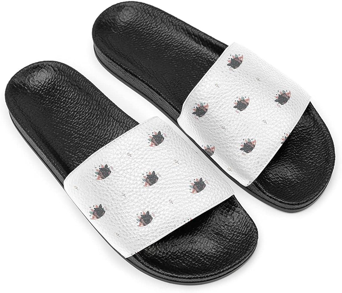 Hedgehogs Memphis Mall Slide Sandal For Women Men Low price Flat soft non-slip black so