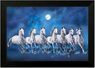 SAF 6543N Seven running horses||vastu painting for home and office||Seven lucky running horses painting || 7 horses painti...