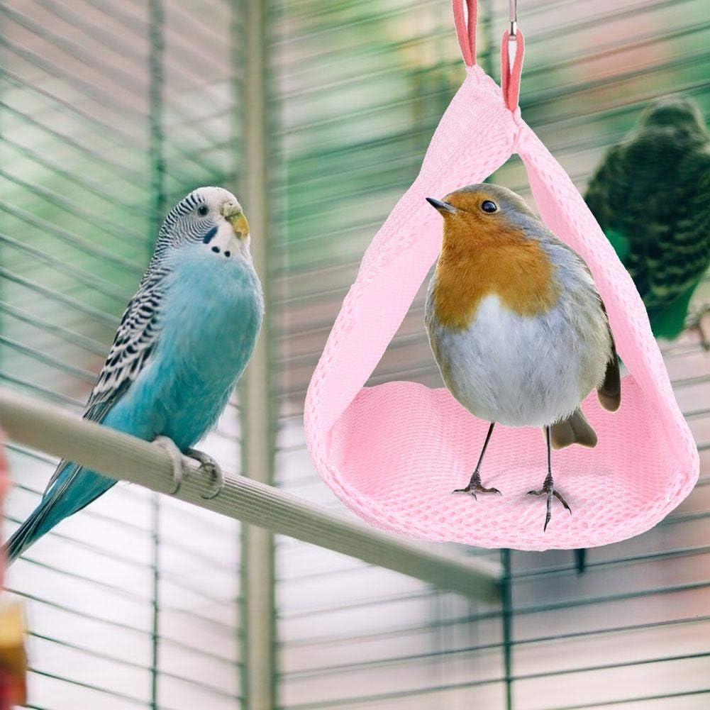 Azul Malla Transpirable de Verano Mascota Nido de Loro de Aves Cama de Hamaca Casa de h/ámster Jaula Colgante Juguete para periquitos Eclectus Perico Cacat/úas Hamaca de p/ájaros