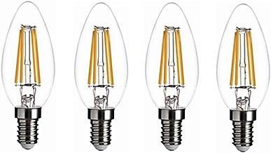 12V E14 gloeilamp Low Voltage C35 kaars lamp 4W Warm Wit Licht 2700 k for RV Camper Marine, Solar Power Licht en Off Grid ...
