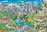 FPRW Puzzle en Bois Anime, 1000 pièces Puzzle d'escalade de Sports extrêmes, pour Enfants Adultes Famille Jeu difficulté Casse-tête