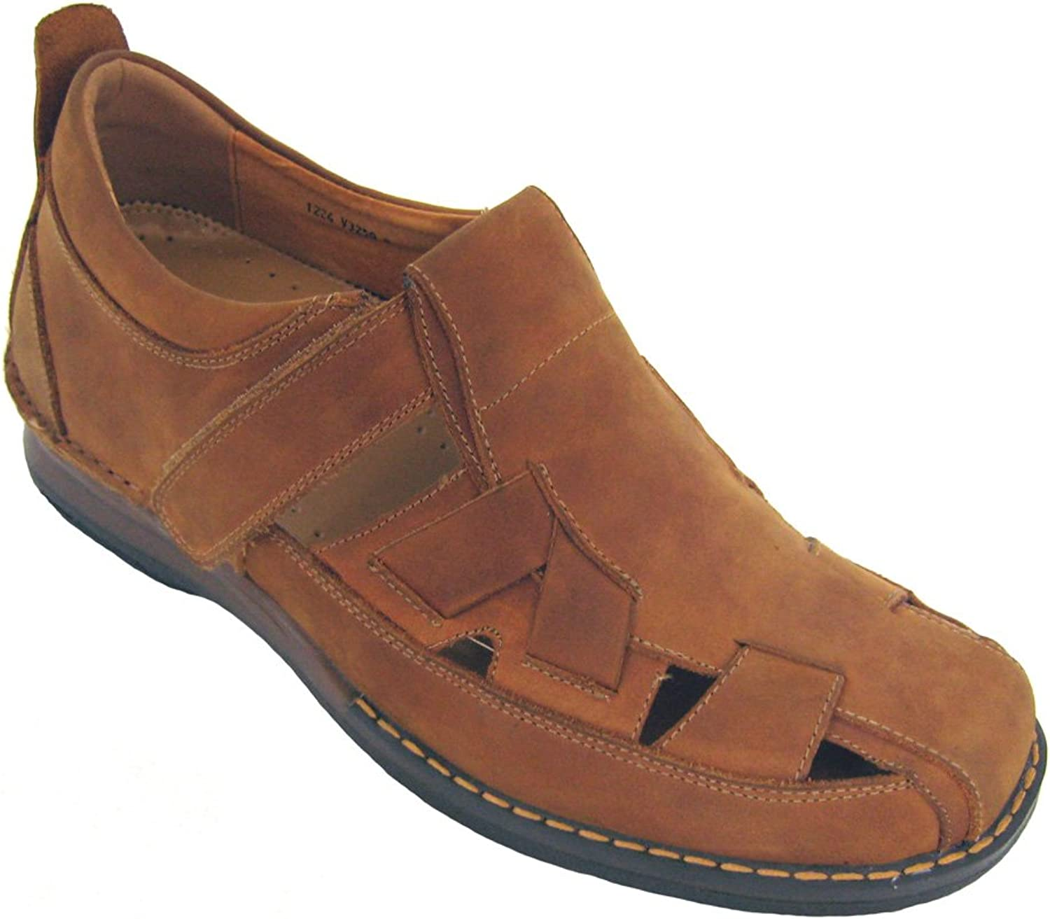 CALTO - V3250-2.8 Inches Taller - Height Increasing Elevator shoes (Brown Fisherman Sandals)