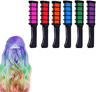 Temporary Bright Hair Chalk Comb Set - Birthday Gifts Halloween Costume Cosplay Party Favors for Girls