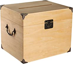 Ivy Lane Design Wedding Card Box, Hole On Top, Paulownia