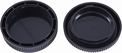 Movo Photo Lens Mount Cap and Body Cap for Olympus EVOLT Four Thirds DSLR Camera