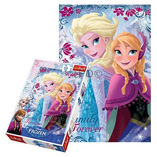 Disney – La Reine des Neiges – Maxi Puzzle Elsa et Anna – 24 Pièces