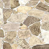 Wild Beige Stone PVC 3D Wall Panels - Interior Design Wall Paneling Decor Commercial and Residential Application, 3.2' x 2.1'