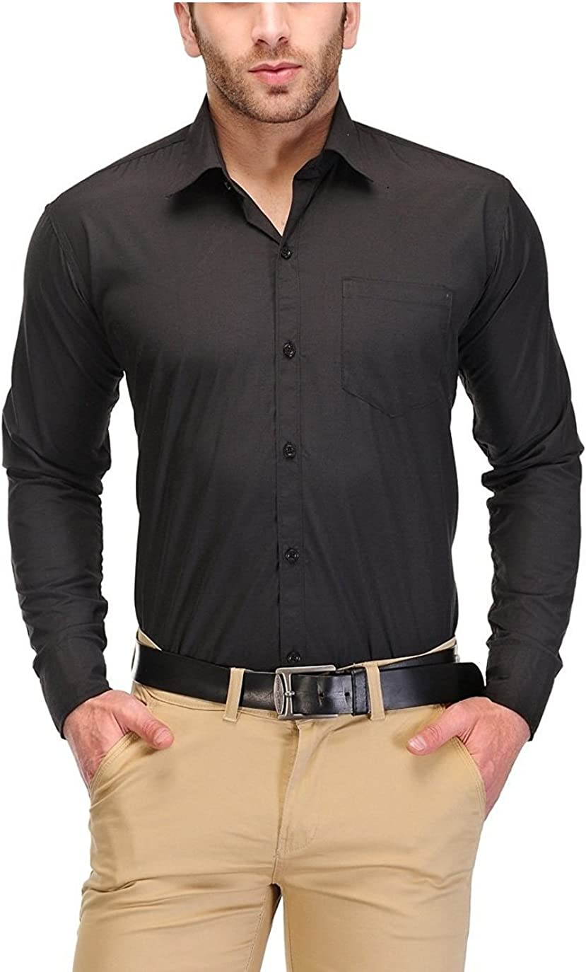 Royal Kurta Men's Formal's by Cotton Blended Office Wear Regular Shirt