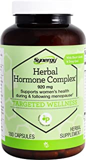 Herbal Hormone Complex to Support Women's Health During and Following Menopause* With Black Cohosh, Dong Quai Passion Flower, Red Raspberry, Fenugreek, Licorice, Chamomile, Cramp Bark, Saw Palmetto, Wild yam, Butternut and Kelp - 920 mg per serving - 180 Capsules