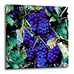 3dRose LLC Grapes Wall Clock, 10 by 10-Inch