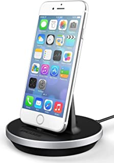 Encased Desktop Lightning Charging Stand, MFI Certified iPhone Charger (Adjustable) Case Friendly Design - Aluminum/Black (Compatible to Apple iPhone 6/ iPhone 6S)