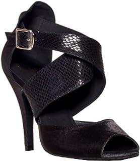 MINITOO L013 Chaussures de danse latine en satin pour femme