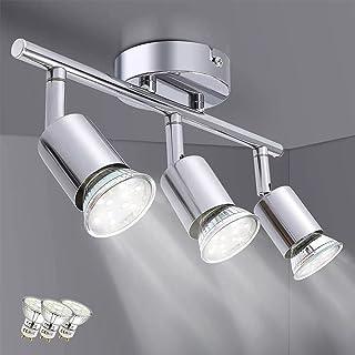 Osairous Spots Plafond Modernes, Plafonnier LED Orientables pour Salon Couloir Chambre, Luminaire Plafonnier avec 3 Ampoul...
