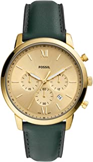 Fossil Mens Quartz Watch, Chronograph Display and Leather Strap FS5580