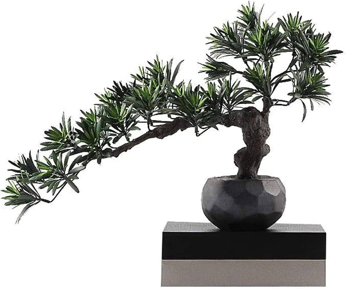 DSWHM Artificial Bonsai Tree Ornament Plant Boston Mall Simula Potted Genuine