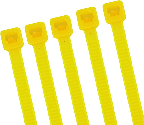 Upgrade Strong Wide 8 Inch 150 Pack Bright Yellow Color Heavy Duty Standard Durable Cable Zip Ties Handheld Typical Zip Ties Outdoor Gardening Office Festivals And Kitchen Use