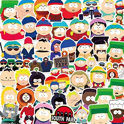 ZZHH 50 South Park Pegatinas de Dibujos Animados creativos Taza de Agua portátil Tableta Casco teléfono móvil Pegatinas de Coche a Prueba de Agua