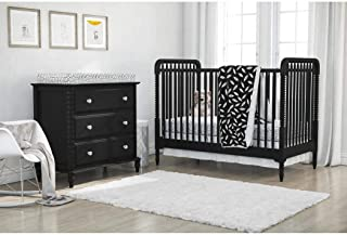 DS 4 Piece Baby Black White Feathers Crib Bedding Set, Newborn Woodland Themed Nursery Bed Set Infant Child Cute Adorable Animal Print Dots Arrows Pattern Blanket Comforter, Polyester Microfiber