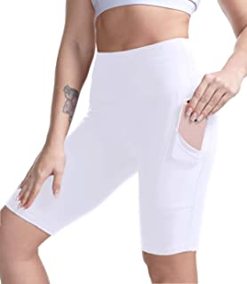 High Waisted Yoga Shorts for Women Tummy Control Workout Running Biker Shorts