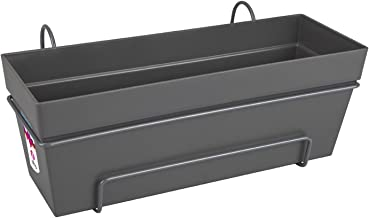 elho Loft Urban Trough Allin1 Jardinero balcón, Antracita, 49.3x25x53 cm
