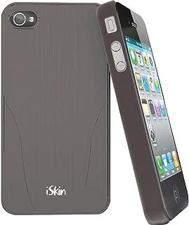 iSkin ARIPH4-GY1 Aura Hybrid 手机壳适用于 iPhone 4 和 4S - 1 包 - 零售包装 - 灰色
