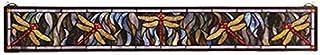 """Meyda Tiffany 72896 Tiffany Dragonfly Stained Glass Window, 40"""" Width x 6"""" Height"""