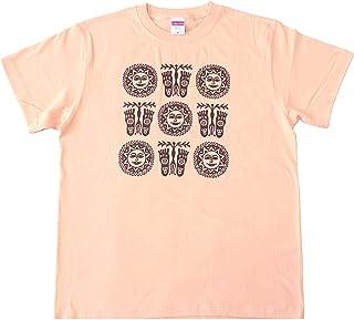 Tシャツ 半袖 太陽 ヒンディー語 ヒンディ ガンジー アメカジ バックプリント ワンポイント 綿100% ユニフォーム エスニック アジアン アジア レディース メンズ 男女兼用