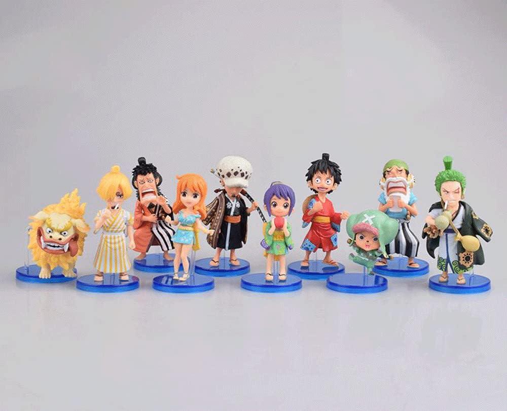 Mimimiao One Piece Luffy Zoro Sanji Suopp Chopper Na.mi 8cm Finally popular brand Max 90% OFF 3.1i