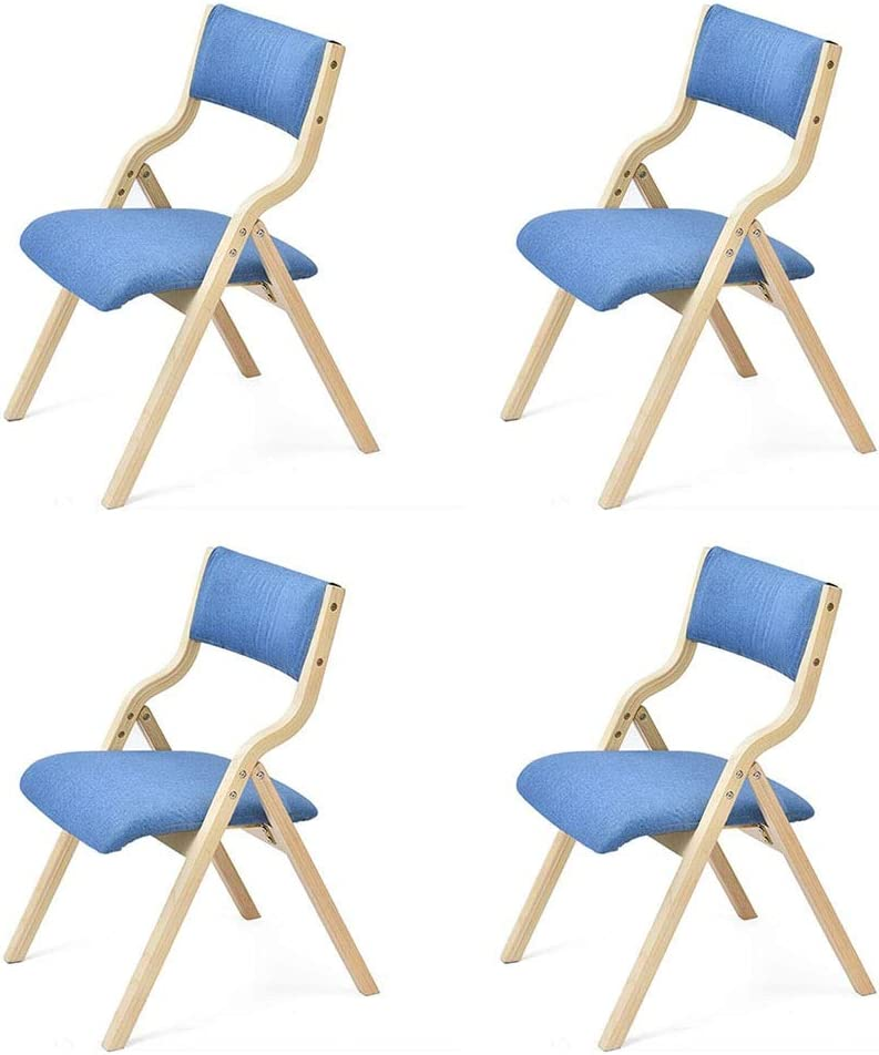 4 years warranty Ranking TOP20 Dall Folding Dining Chair Solid Frame Backrest Tabl Leisure Wood