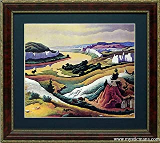Lewis and Clark Expedition Art By Thomas Hart Benton Framed Print