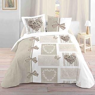 Exceptionnel LOVELY CASA Housse De Couette, Coton, Blanc, 240x220 Cm