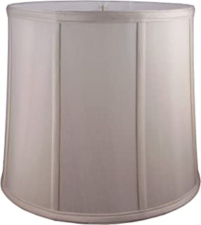 """American Pride 8""""x 10""""x 8"""" Round Soft Shantung Tailored Lampshade, Croissant"""
